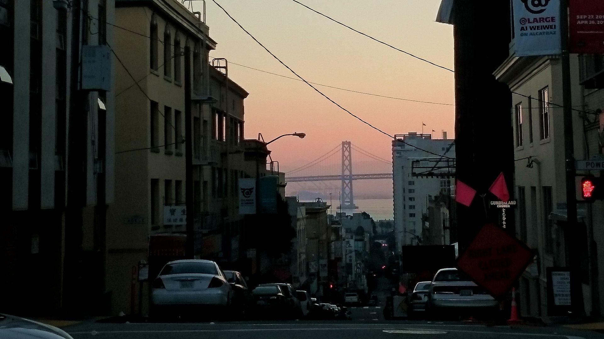 Hallbus vinresor Kalifornien San Fransico vy över Golden Gate