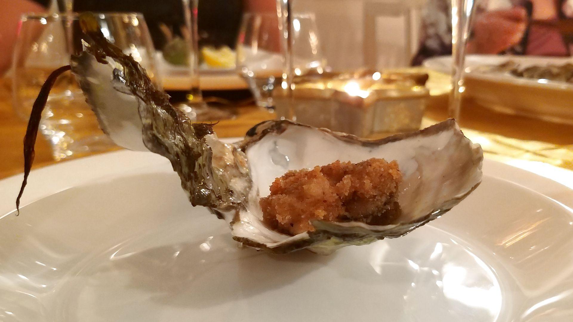 Friterade ostron